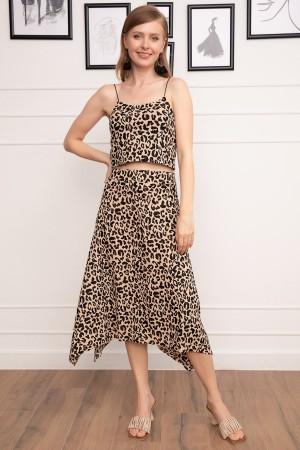 Crop Blouse Skirt Set