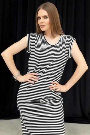 V-Neck Slit Dress