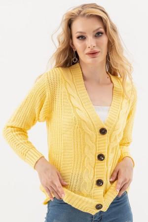 V-Neck Buttoned Cardigan
