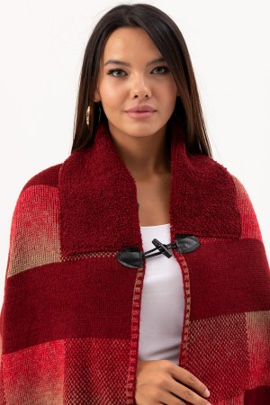 Square Patterned Poncho