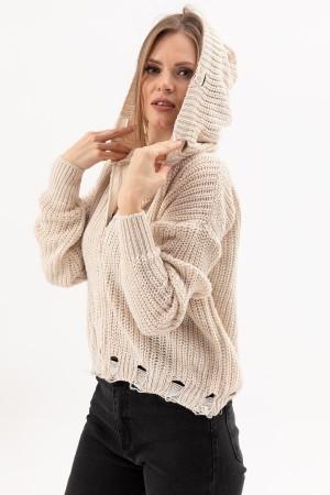 Zippered Knitwear Cardigan