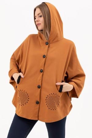 Pocket Hooded Poncho
