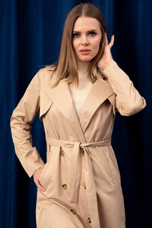 Buttoned Long Trench