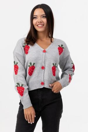 V Neck Knitwear Cardigan