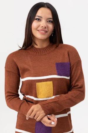 Zero Collar Knitwear Tunic