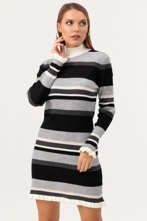 Turtleneck Knitwear Dress