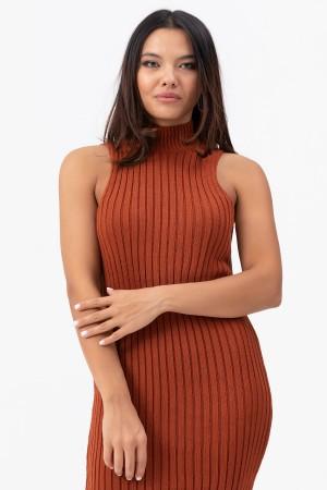 Zero Sleeve Knitwear Dress