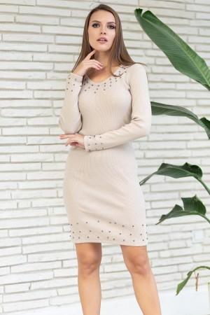 V-Neck Beaded Dress