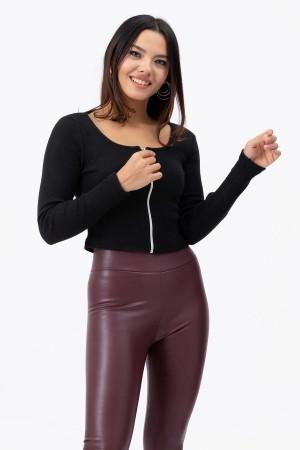 Zipper Camisole Blouse