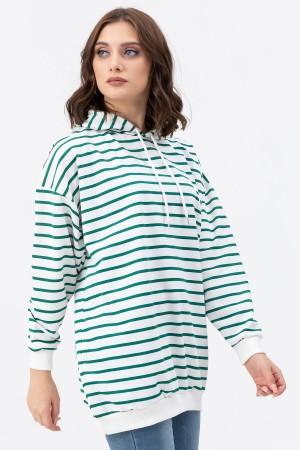 Striped Hoodie Sweat