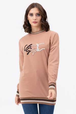 Zero Collar Embroidered Sweat