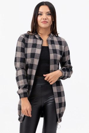 Zipper Long Jacket