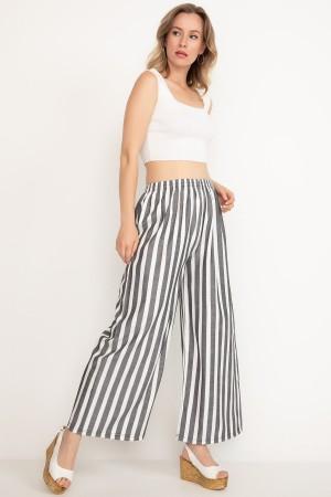 Wide Elastic Waist Trousers