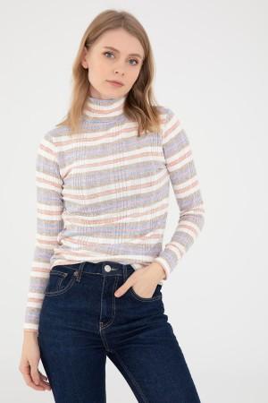 Striped Fisherman Knitwear Blouse