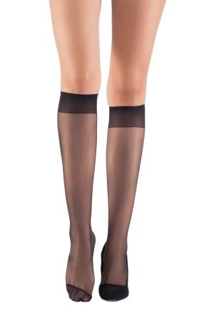 Fit 15 Below Knee Standard Thin Socks Black