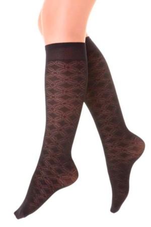 Micro Knee High Socks Dream Pattern Black