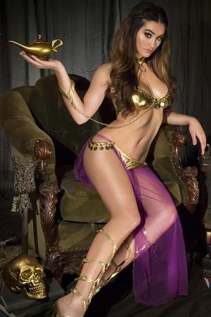 Belly Dancer Costume Purple