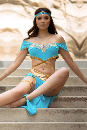 Sexy Accessory Indian Belly Dancer Costume Blue