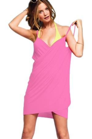 Women's Beach Dress Pink Short Pareo