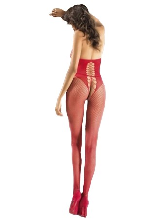 Red Body Stocking Sexy Underwear Alura