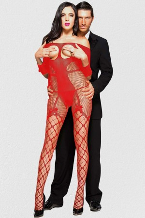 Fancy Special Areas Light Red Body Stocking