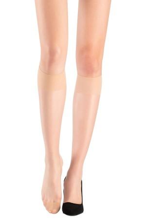 Super thin 15 Denier Trousers Socks Sahara