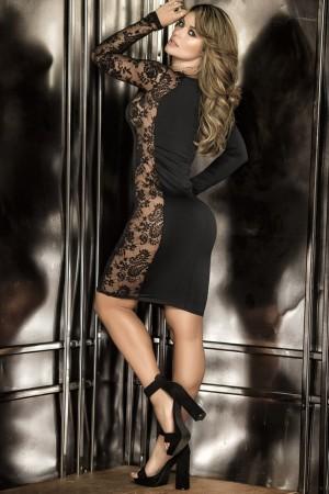 Lace Decollete Dress