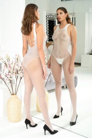 Body Stocking White Fishnet Fantasy Underwear