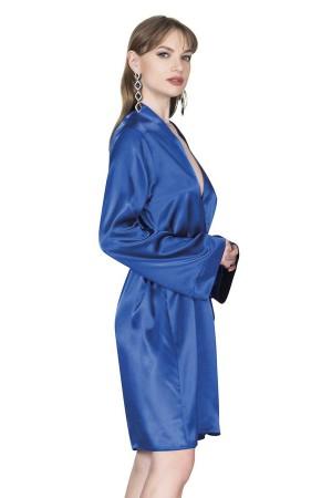 Pajamas Suit Shorts Bustier Blue