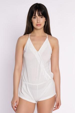 Women's Pajamas Ecru Jumpsuit Nightgown