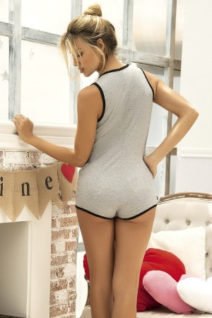 Women's Pajamas Jumpsuit Gray