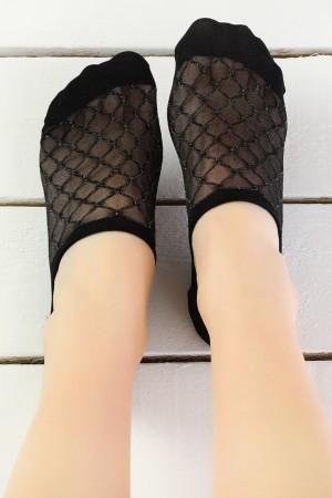 Women's Black Ballet Socks