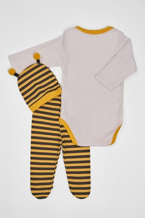 Baby Baby Set 3 Bee Printed