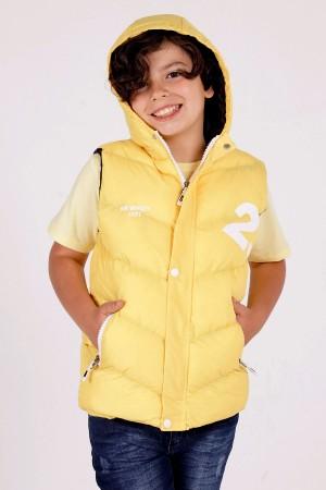 Boy's Hooded Vest 23 Print