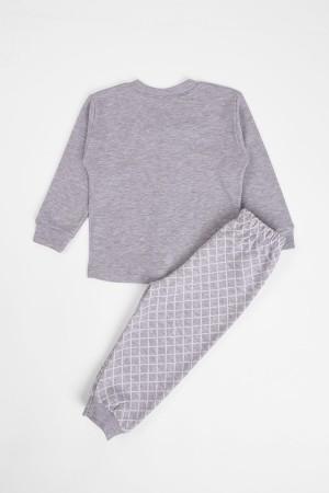 Baby Boy Pajamas Set Little Man Printed 3-6 Months Gray