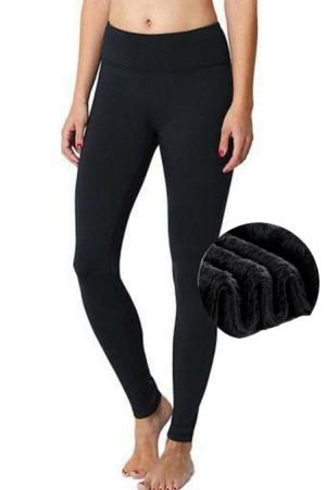 Women's Black 23000 Plush Thin Hairy Winter Tights