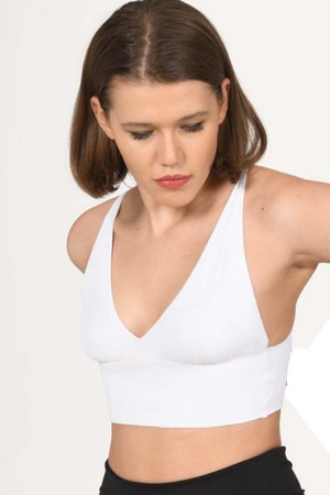 Knitwear Bustier White-800103
