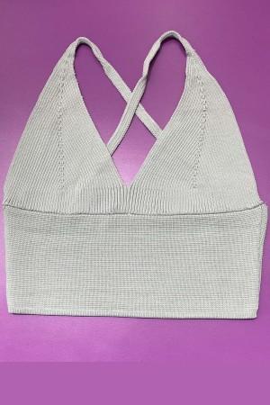 Knitwear Bustier Gray-800104