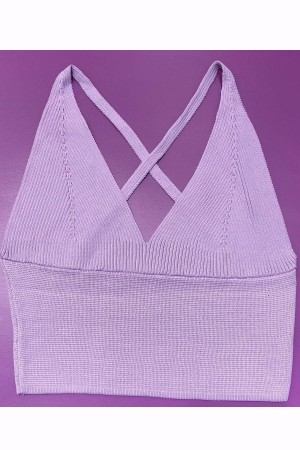 Knitwear Bustier Lilac-800105