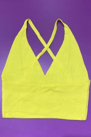 Knitwear Bustier Yellow-800108