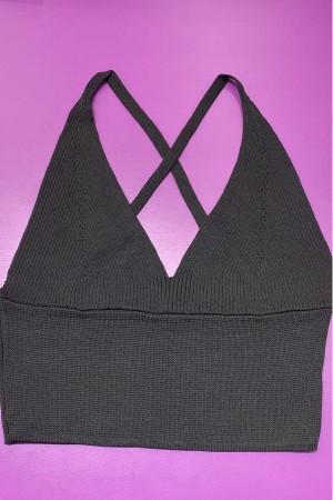 Knitwear Bustier Black -800102