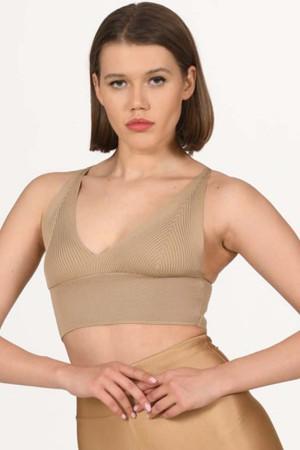 Knitwear Bustier Skin Color -800106