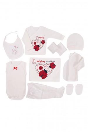 Newborn Baby Set 10 Pieces Baby Girl Ladybug Red
