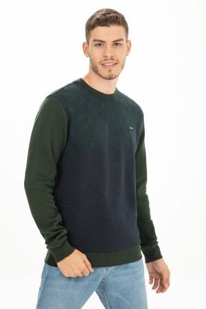 Crew Neck Patterned Thessaloniki Sweatshirt