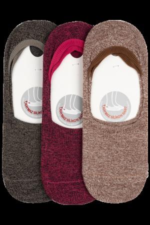 Khaki Pink Beige 3 Pack Ballet Socks