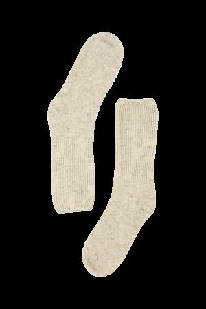 Fuzzy Cream Wool Socks
