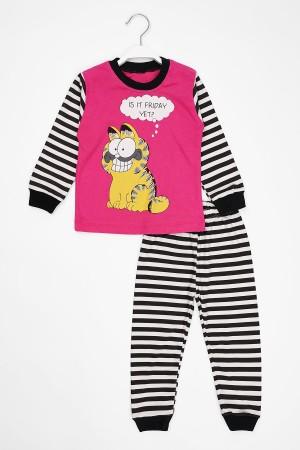 Unisex Kids Pajamas Set Garfield Printed 1-3 Ages