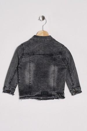 Boy's Denim Jacket With Twist Accessory