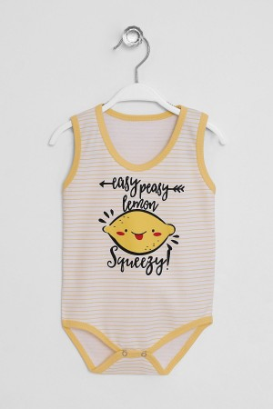 Baby Snaps Body Lemon Printed 3-36 Months