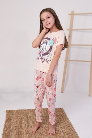 Girls' Pajamas Suit Good Night Printed Ages 4-12